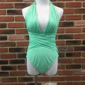 La Blanca Mint Bathing Suit sz 10